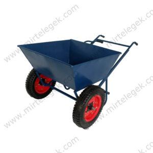 Будівельний візок з кузовом на пневматичному колесі фото