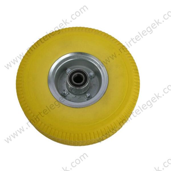 Колесо пінополіуретан жовте фото