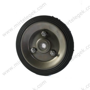 колесо металеве з литою гумою фото