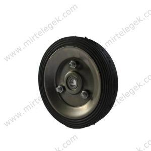 колесо для візка лита гума фото