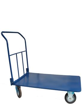 Візок чотириколісний платформний синій фото