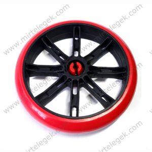 Колесо красное пластиковое на тележку фото