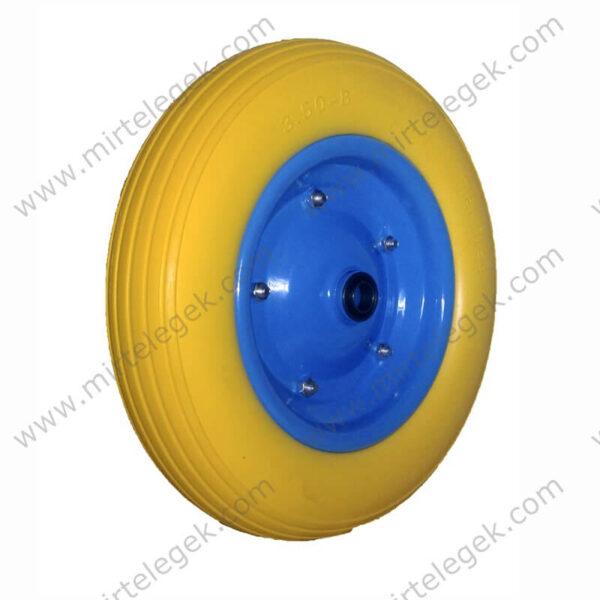 Колесо пінополіуретан 3.50-8 для візка фото
