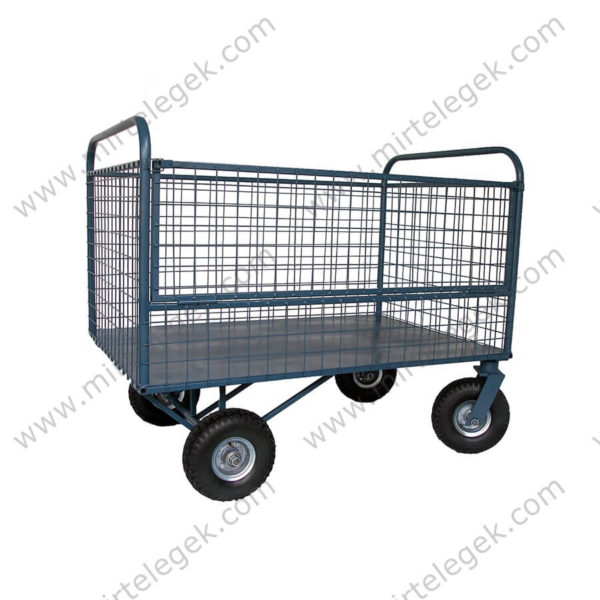 Візок чотириколісний з сітчастим бортом